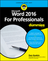 Word 2016 For Professionals For Dummies (1119286050) cover image