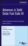 Advances in Solid Oxide Fuel Cells III: Ceramic Engineering and Science Proceedings, Volume 28, Issue 4 (0470196351) cover image