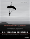 Differential Equations: An Introduction to Modern Methods and Applications 3E Student Solutions Manual (1118981251) cover image
