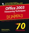 Office 2003 Timesaving Techniques For Dummies (0764573152) cover image
