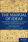 The Manual of Ideas: The Proven Framework for Finding the Best Value Investments (1118083652) cover image