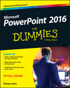 PowerPoint 2016 For Dummies (1119077052) cover image