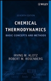 Chemical Thermodynamics: Basic Concepts and Methods, 7th Edition (0471780154) cover image