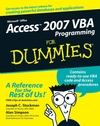 Access 2007 VBA Programming For Dummies (1118050754) cover image