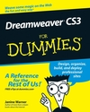 Dreamweaver CS3 For Dummies (1118051254) cover image