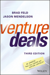 Venture Deals: Be Smarter Than Your Lawyer and Venture Capitalist, 3rd Edition (1119259754) cover image