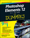Photoshop Elements 12 All-in-One For Dummies (1118754255) cover image
