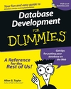 Database Development For Dummies (1118085256) cover image
