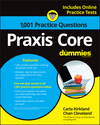 1,001 Praxis Core Practice Questions For Dummies With Online Practice (1119263956) cover image