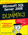 Microsoft SQL Server 2008 For Dummies (0470224657) cover image