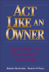 Act Like an Owner: Building an Ownership Culture (0471322857) cover image