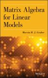 thumbnail image: Matrix Algebra for Linear Models
