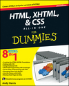 HTML, XHTML and CSS All-In-One For Dummies, 2nd Edition (0470537558) cover image