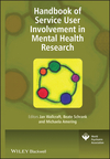 Handbook of Service User Involvement in Mental Health Research (0470997958) cover image