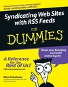 Syndicating Web Sites with RSS Feeds For Dummies (0764597558) cover image