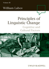 Principles of Linguistic Change, Volume 3: Cognitive and Cultural Factors (1405112158) cover image
