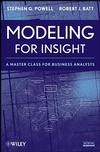 Modeling for Insight: A Master Class for Business Analysts (0470175559) cover image