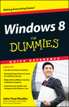 Windows 8 For Dummies Quick Reference (1118238559) cover image