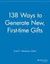 138 Ways to Generate New, First-time Gifts (111869175X) cover image
