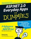 ASP.NET 2.0 Everyday Apps For Dummies (0764597760) cover image