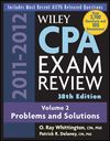 Wiley CPA Examination Review, Volume 2, Problems and Solutions, 38th Edition, 2011 - 2012 (1118107160) cover image