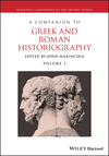 A Companion to Greek and Roman Historiography (1405102160) cover image