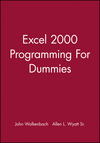 Excel 2000 Programming For Dummies (0764505661) cover image
