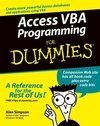 Access VBA Programming For Dummies (0764578561) cover image