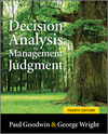Decision Analysis for Management Judgment, 4th Edition