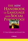 The New Handbook of Language and Social Psychology (0471490962) cover image