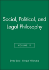 Social, Political, and Legal Philosophy, Volume 11 (0631230262) cover image