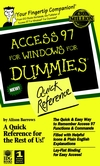 Access 97 For Windows For Dummies: Quick Reference  (0764500562) cover image