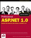Professional ASP.NET 1.0, Special Edition (0764543962) cover image