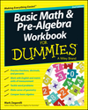 Basic Math and Pre-Algebra Workbook For Dummies, 2nd Edition (1118828062) cover image