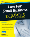 Law for Small Business For Dummies - UK, UK Edition (1118970462) cover image