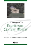 A Companion to Eighteenth-Century Poetry (1405113162) cover image
