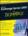 Microsoft Exchange Server 2007 For Dummies (0470398663) cover image
