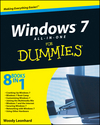 Windows 7 All-in-One For Dummies (0470550163) cover image