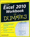 Excel 2010 Workbook For Dummies (0470904763) cover image