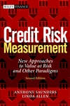 Credit Risk Measurement: New Approaches to Value at Risk and Other Paradigms, 2nd Edition (0471274763) cover image