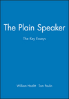 The Plain Speaker: The Key Essays (0631210563) cover image