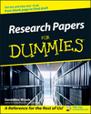 Research Papers For Dummies (0764554263) cover image