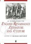 A Companion to English Renaissance Literature and Culture (1405106263) cover image