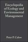 Encyclopedia of Ecology and Environmental Management (0632055464) cover image