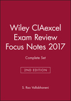 Wiley CIAexcel Exam Review Focus Notes 2017 Complete Set (1119461464) cover image