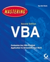 Mastering MIcrosoft VBA, 2nd Edition (0782144365) cover image