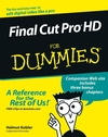 Final Cut Pro HD For Dummies (0764579266) cover image