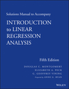 Solutions Manual to Accompany Introduction to Linear Regression Analysis, 5th Edition (1118471466) cover image