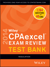 Wiley CPAexcel Exam Review 2014 Test Bank, Regulation (1118733967) cover image