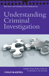 Understanding Criminal Investigation (0470727268) cover image